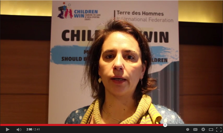 Lucy Amis : Risks of the World Cup 2014 on children