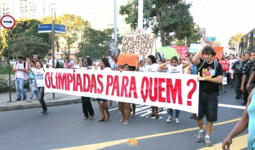 A year to Rio : protest against human rights violations