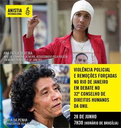 Ana Paula Oliveira and Maria da Penha Macena.