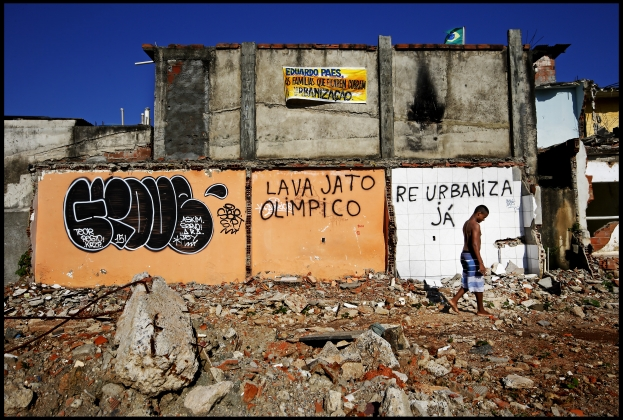 Villa Autodromo, next to the Olympic Park,  used to accommodate 550 homes and a thriving community. Most of the residents have now been evicted. (Photo: Pim Ras)