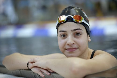Yusra Mardini (AP Photo/Michael Sohn)